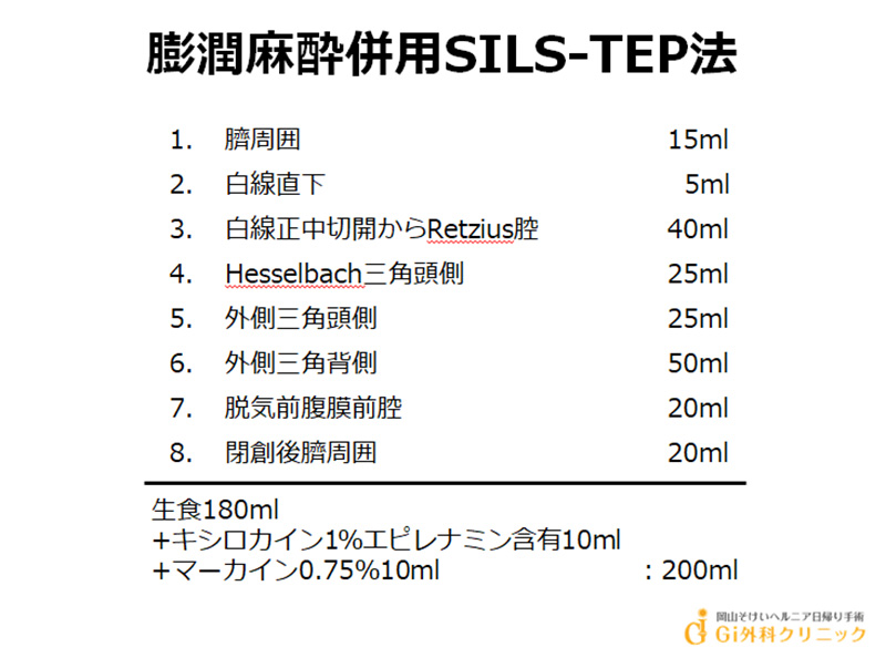 膨潤麻酔併用SILS-TEP法